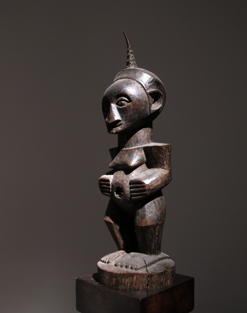 Songye Fetiche , D.R. of Congo Wood and horn - height 41 cm