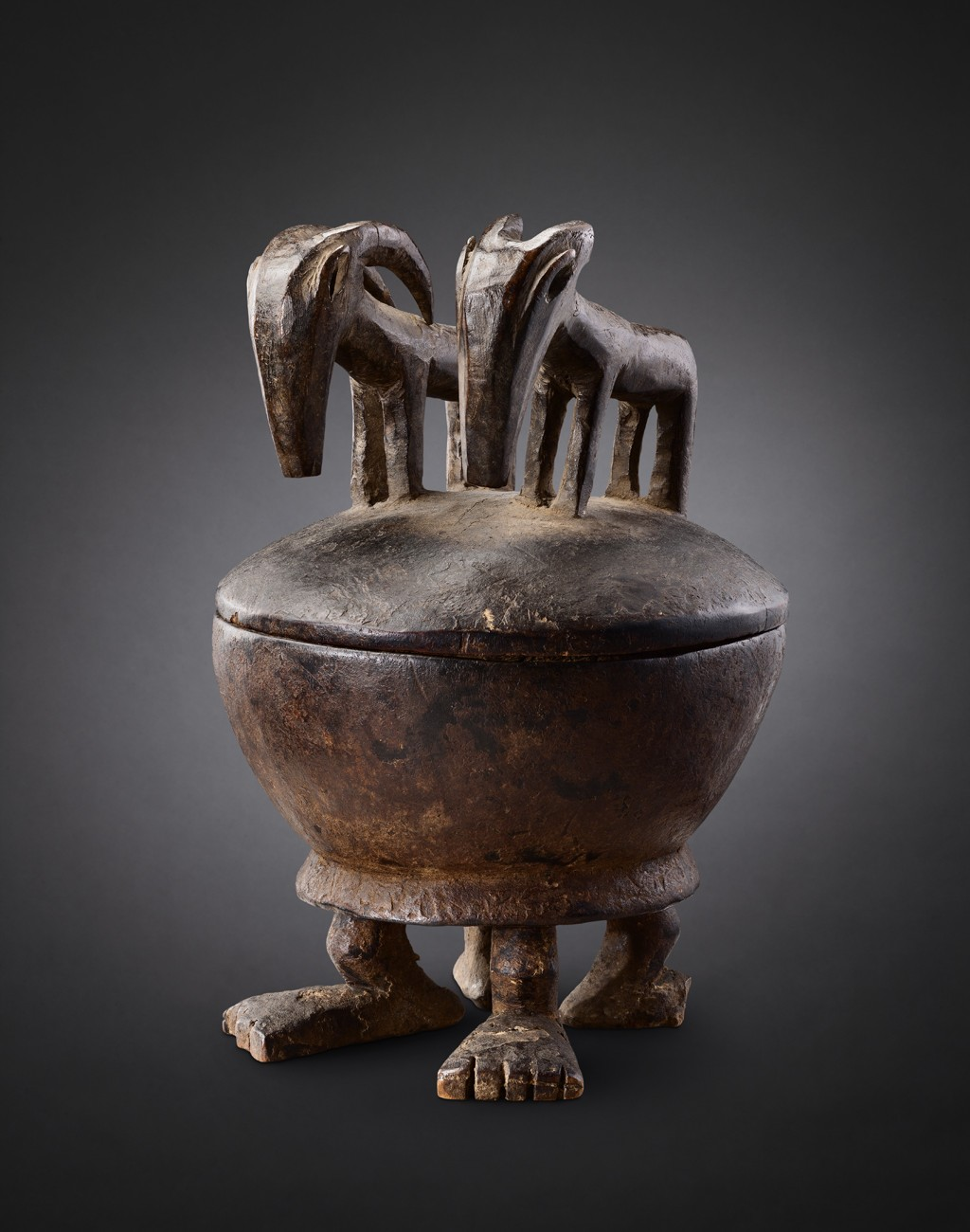 Bamana bowl, Mali Wood - height 29 cm Provenance: Old European Collection