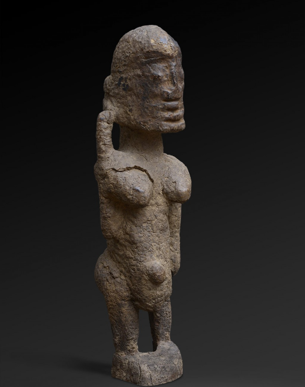 Dogon, Mali Wood - height 30 cm Provenance: Old European collection