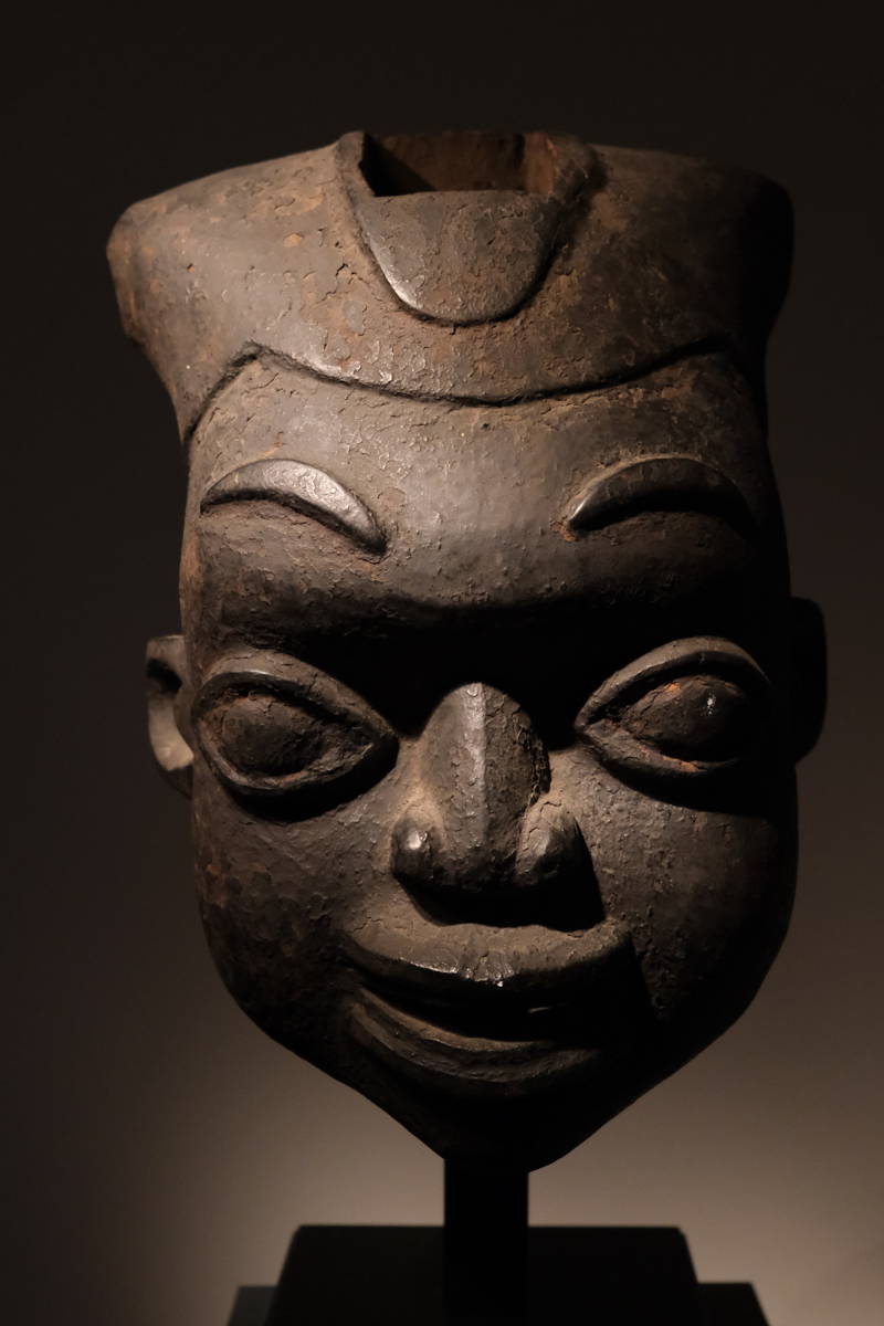 Ngoin mask Bamileke Cameroon Wood H.40 centimeters, Provenance: Private american collection Price: 4500 euros