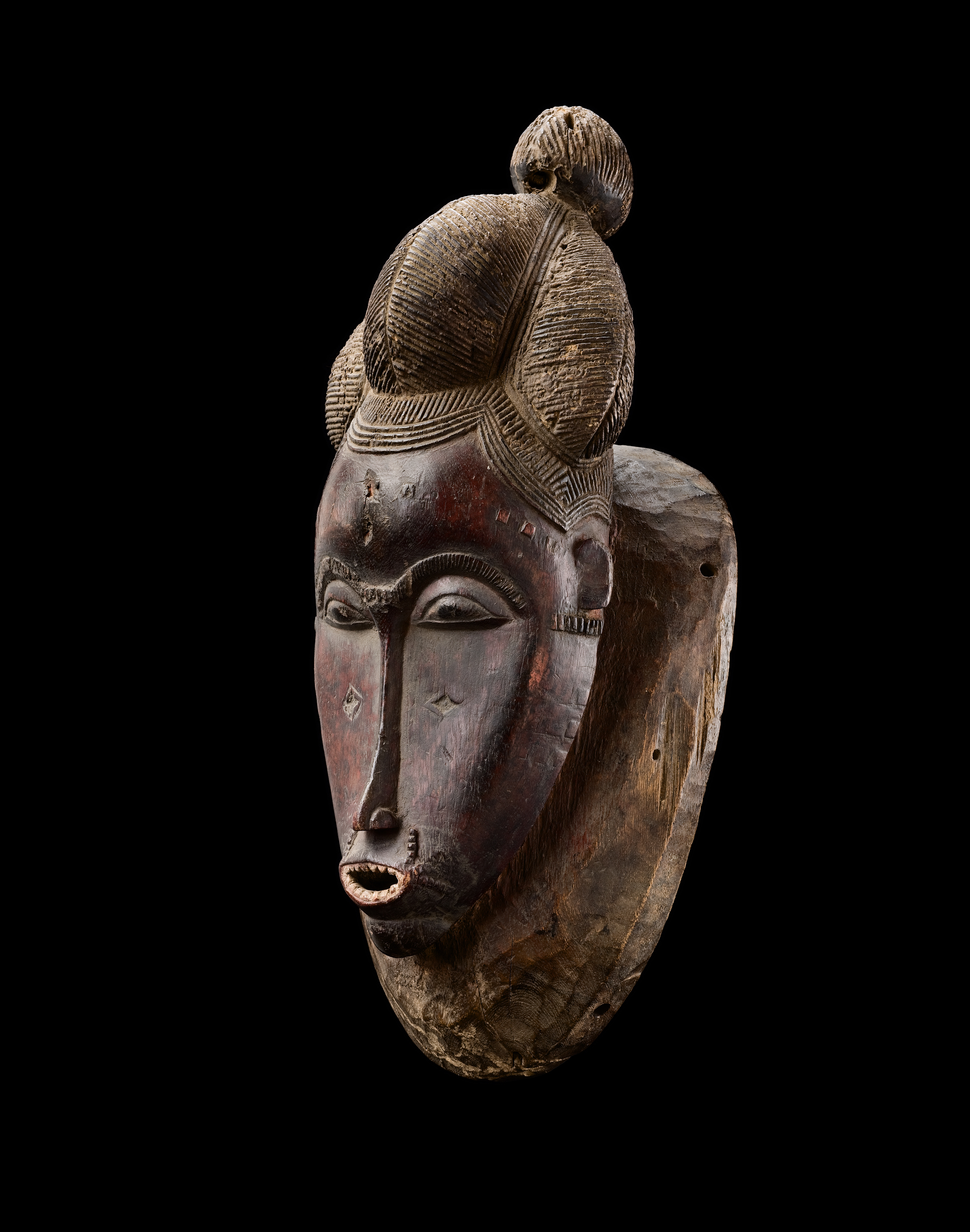 Baule mask, Ivory Coast Wood, Height: 40 cm Provenance: Old European Collection