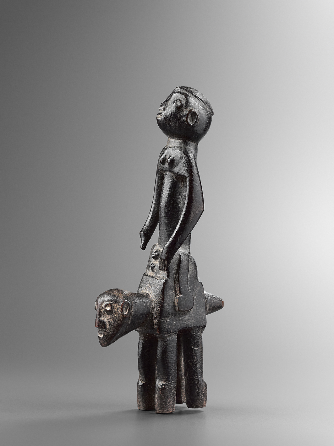 Senoufo rider, Ivory Coast Wood - Height: 33 cm Provenance: Old European collection