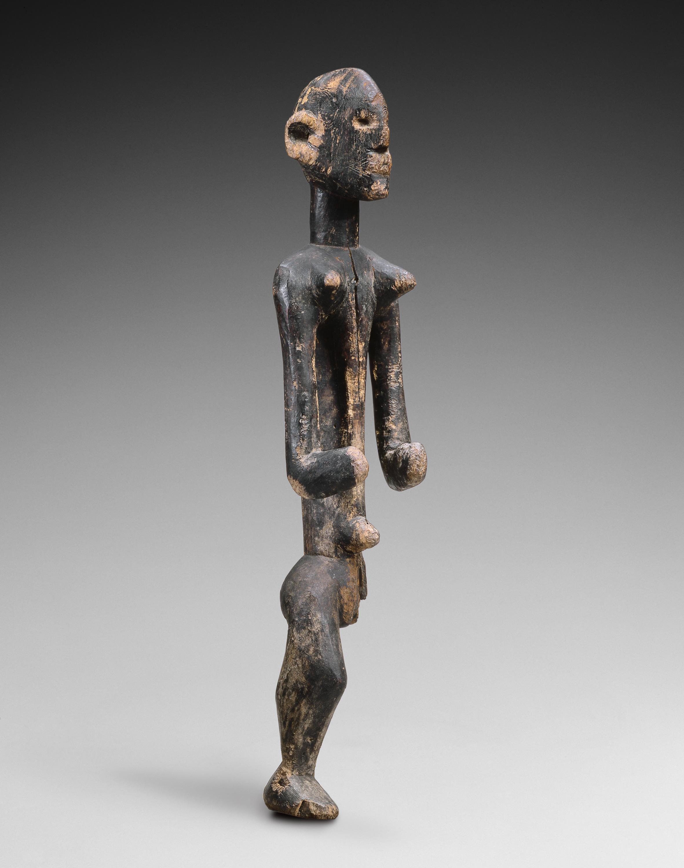 Sculpture Montol Nigéria Bois, 70 cm Provenance: Adrian Schlag